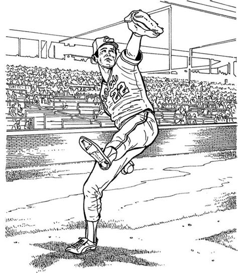 baltimore orioles player baseball coloring page purple kitty