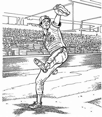 Coloring Baseball Pages Orioles Baltimore Player Stadium