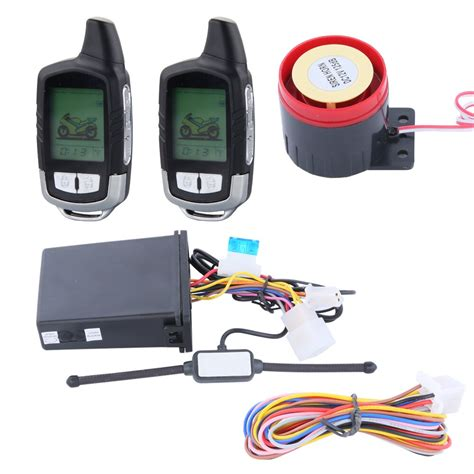 quality 2 way motorcycle alarm system with remote engine start starter remote distance