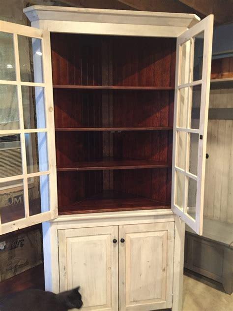 large glass doors corner cabinet furniture   barn