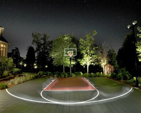 outdoor basketball court lighting backyard basketball court ideas to help your family become
