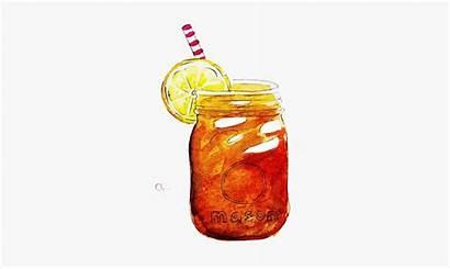 Tea Iced Clipart Sweet Drawing Clip Mason