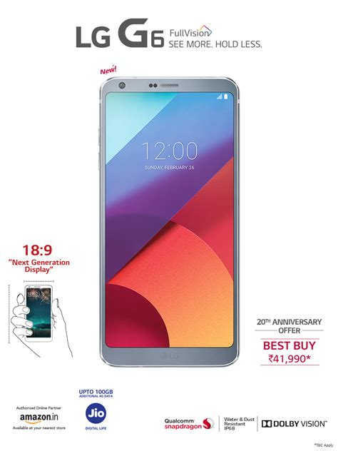 LG G6 Smartphone - Great Things Go Together