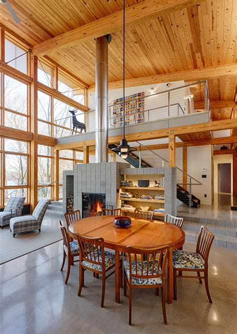 Living Room With Fireplace And Bookshelves by Timber Framed Houses Archives Hugh Lofting Timber
