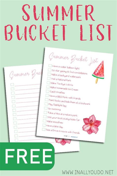 20 Summer Boredom Busters For Busy Kids + FREE Printable