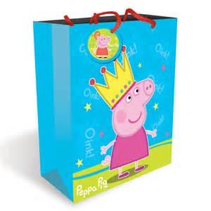 peppa pig ribbon large peppa pig gift bag peppa pig party