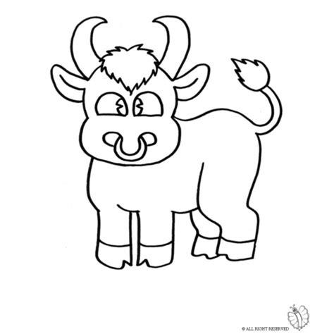 disegno bambina facile disegno di piccolo toro da colorare per bambini