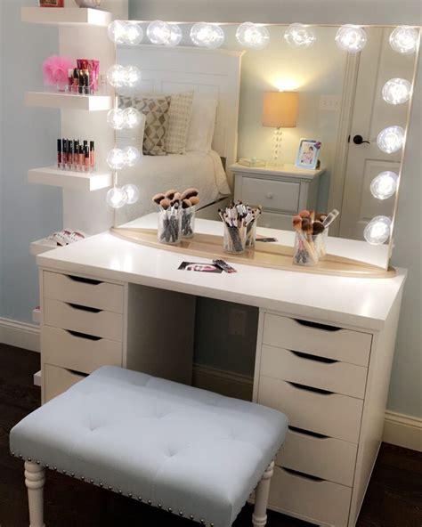 vanity con furniture makeup desk ikea for a feminine appeal