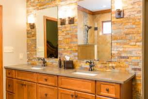 Narrow Bathroom Ideas Pinterest by Stone Wall Bathroom 18 1 Kindesign Stone Wall Bathroom