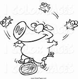 Coloring Juggling Pages Sheets Hathi Unicycle Getdrawings Visit Colouring sketch template