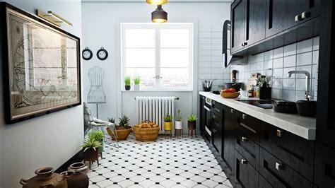 beautiful black white kitchen designs