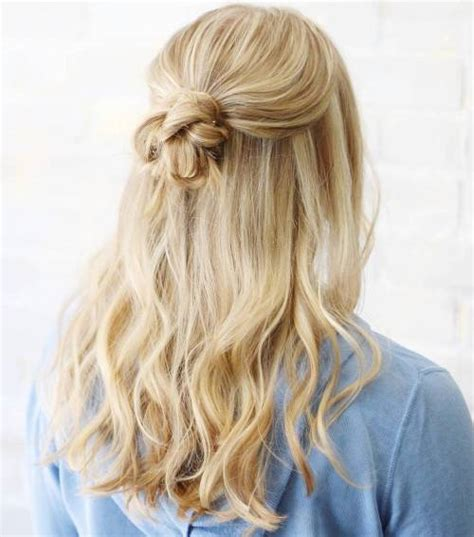 cute half up down hairstyles easy hair
