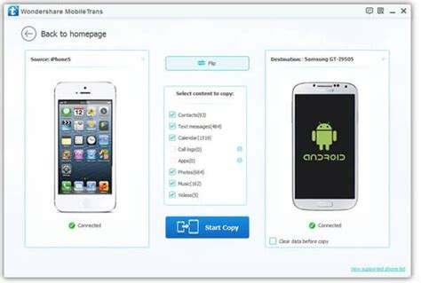move from android to iphone official wondershare mobiletrans 1 click phone to phone