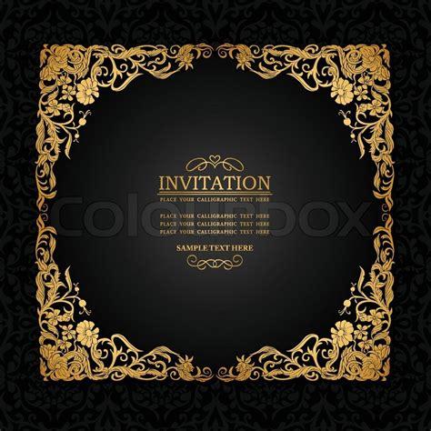 vintage hintergrund mit antiken luxus schwarz und gold