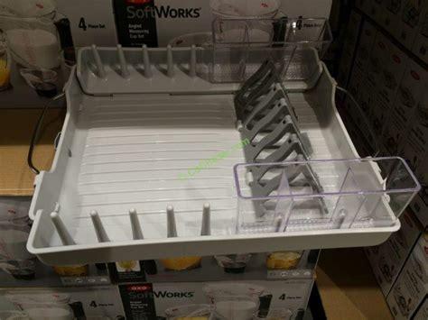 oxo foldaway dish rack costcochaser