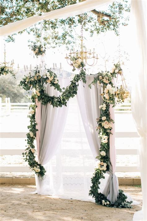 Background Winter Backdrop Ideas by 30 Best Floral Wedding Altars Arches Decorating Ideas