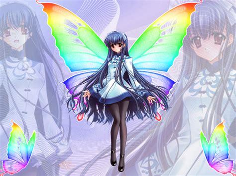 Anime Blue Butterfly Girl By Dark Devil Fox On Deviantart