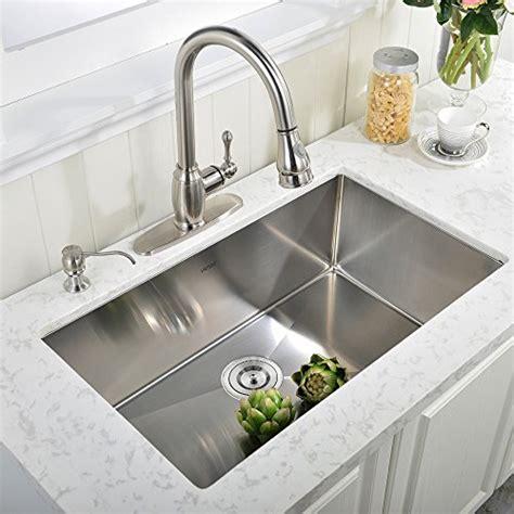 vapsint 174 30 inch undermount single bowl kitchen sink 304 stai