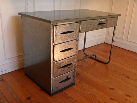 steel bureau bureau atelier en metal vintage steel desk style and