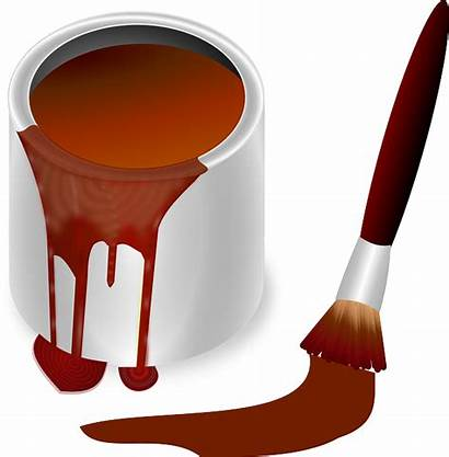 Paint Pintura Bote Olla Pot Clip Brown