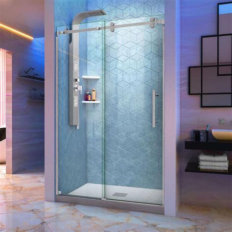 Home Depot Shower Door by Dreamline Enigma X 56 In To 60 In X 76 In Frameless