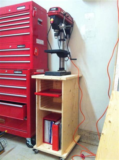 rolling drill press standcabinet  joe  lumberjocks