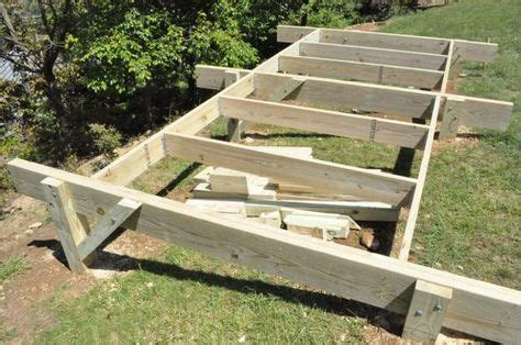 Building A Shed R by How To Build A Post Beam Shed Foundation On A Slope