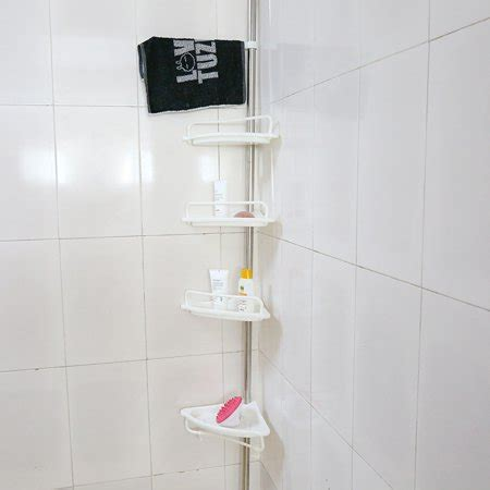 walfront  tier adjustable corner shower caddy shelf