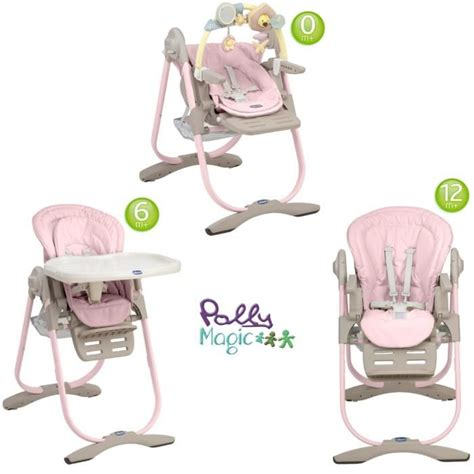 chaise 3 en 1 chicco chaise haute 3 en 1 polly magic pink pink achat