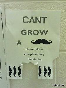 So you can't ... Movember Mustache Quotes