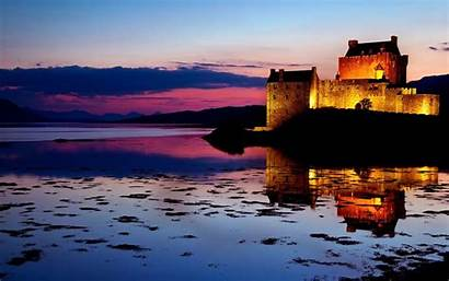 Castle Sunset Eilean Donan Scotland Wallpapers Lake