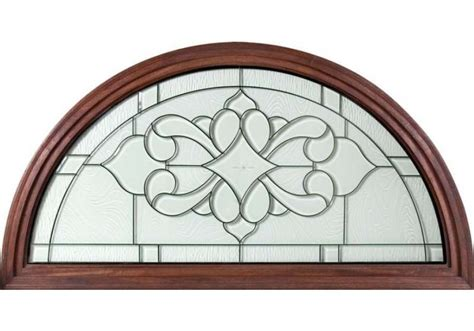 full  top transom  clear beveled elegant glass