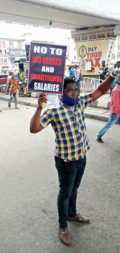 Photos Of Nigerians Protesting Against Electricity, Fuel ...
