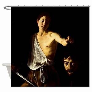 Caravaggio David Goliath Shower Curtain by iloveyou1