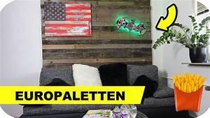 Euro Paletten : europaletten m bel selber bauen die paletten wand uvm youtube ~ Orissabook.com Haus und Dekorationen