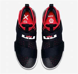 Nike LeBron Soldier 10 Black Red White | SportFits.com