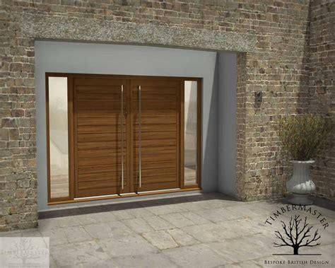 contemporary oak double door  sidelights dudley dudley