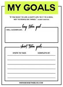 My Goal Sheet Printable