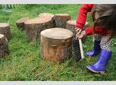 Planning a natural playground Salvaged timber kids
