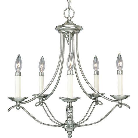 brushed nickel chandelier progress lighting avalon collection 5 light brushed nickel