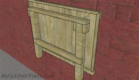 wall mounted folding workbench plans myoutdoorplans