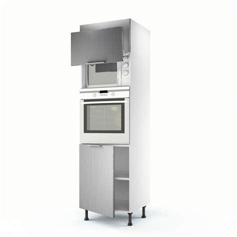 colonne cuisine leroy merlin meuble de cuisine colonne d 233 cor aluminium 3 portes stil h 200 x l 60 x p 56 cm leroy merlin