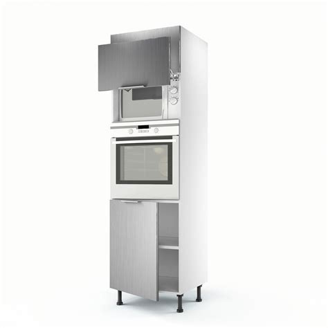 dimensions meubles cuisine ikea meuble de cuisine colonne décor aluminium 3 portes stil h
