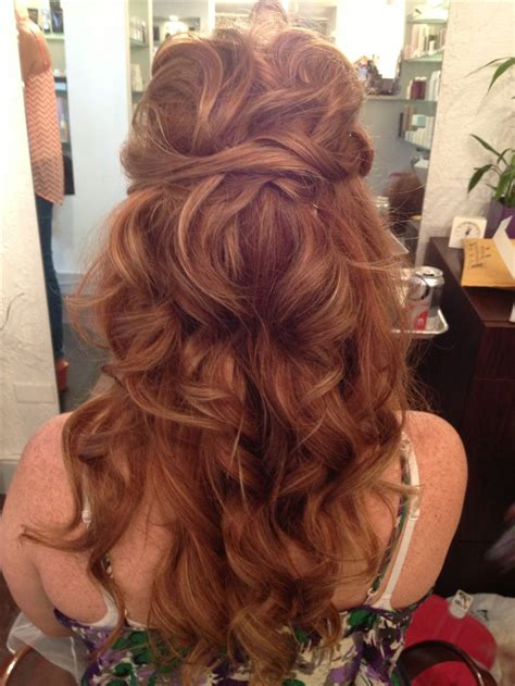 curls perfect prep   veil wedding