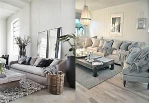 20 inspirations pour un salon aux couleurs naturelles With choix de couleur de peinture pour salon 0 peindre un plafond en couleur joli place