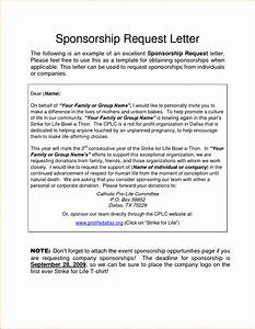 sponsorship letter sample mple request letters requesting With sponsor application template