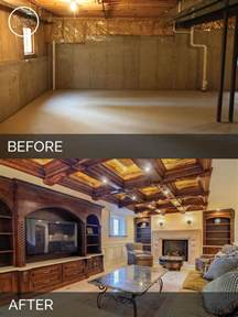 Unfinished Basement Ideas Low Ceiling by Steve Amp Ann S Basement Before Amp After Pictures Home