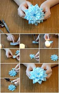 How to Make Ribbon Flower Kanzashi UsefulDIY com