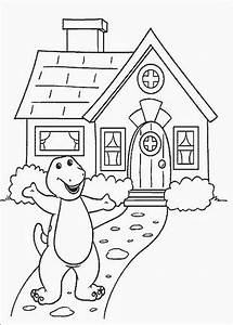 Christmas Barney Colouring Pages Barney Coloring Pages ...