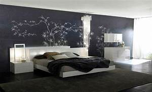 Bedroom purple color schemes with unique wall art and for Interior design bedroom wall color schemes video